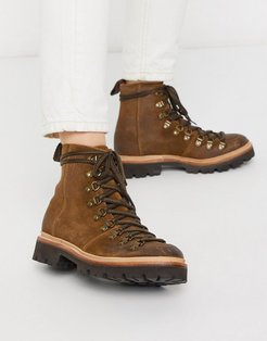 Nanette hiker boot in brown suede