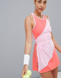 performance dress in pink