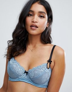 lace bra in blue upto G cup