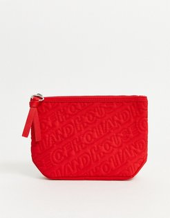 quilted pouch-Red