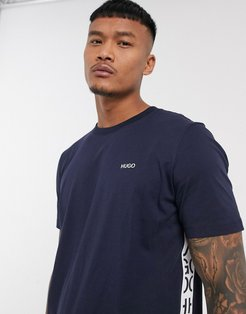 Deres taped t-shirt in navy
