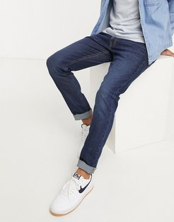 Jeans Luke slim tapered jeans in dark blue wash-Navy