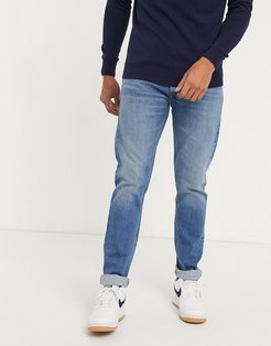 Jeans Luke slim tapered jeans in light blue wash-Navy