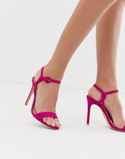 barely there with buckle detail in raspberry-Pink
