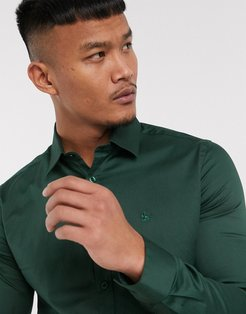 Lock point collar shirt in forest green