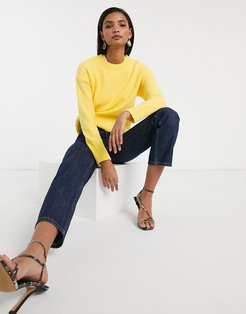 loose fit sweater in yellow
