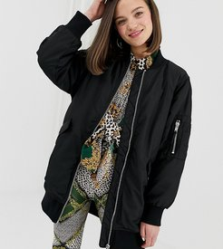 longline bomber in black