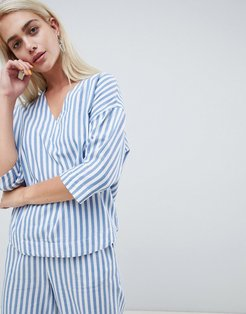 Relaxed Shirt In Summer Stripe Two-Piece-Blue