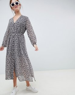 Moves By Minimum button through midi tea dress-Multi