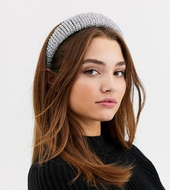 London Exclusive silver glitzy hairband and scrunchie multipack