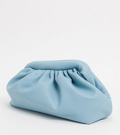 London Exclusive slouchy pillow clutch in baby blue