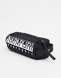 Happy pencil case in black