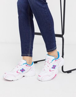 452 Chunky Sneakers in white pink
