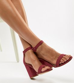 Barely There Block Heel Sandal-Pink