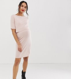 nursing dress in light pink