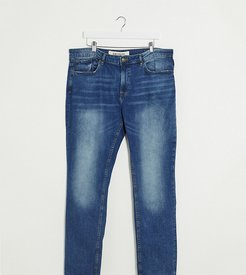 PLUS slim jeans in washed blue