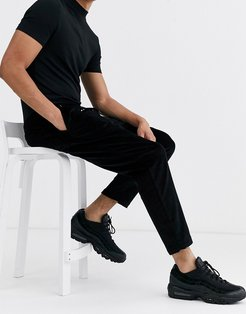 pull on cord pants in black
