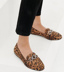 hardware loafer in leopard-Stone