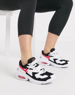 white black and pink Air Max 2 sneakers
