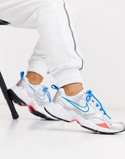 White Blue and Gray Air Heights Sneakers