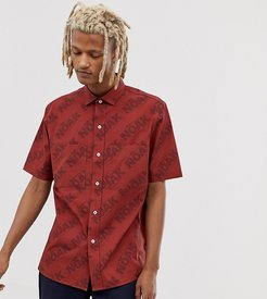 shirt with patch pockets-Red