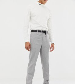 slim suit pants in gray wool mix