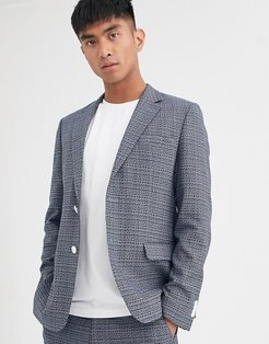 suit jacket in blue texture fabric