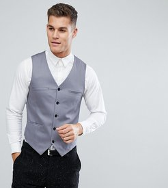 Suit vest In Cotton Sateen-Gray