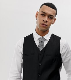 Super Skinny Suit Vest-Black