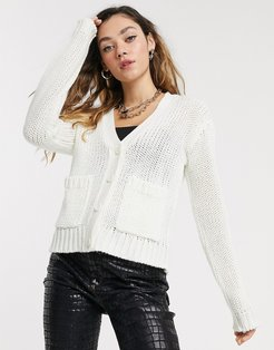 cardigan with pockets in white