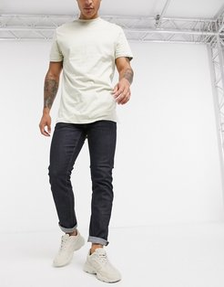 rinse wash slim fit jeans in blue