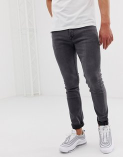 slim fit jeans in gray