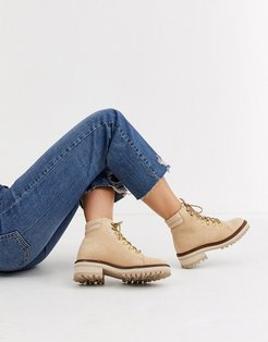 & Other Stories suede lace-up hiker boots in beige