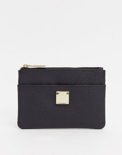 Leather Pure With Eyelt Detail In Black