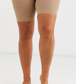 curve sheer anti chaffing cooling short in beige