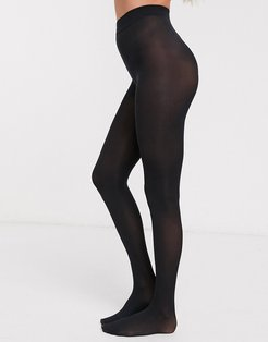 Eco biodegradable and recyclable 40 denier tights in black