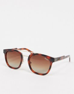 Coolin aviator sunglasses in tort-Brown