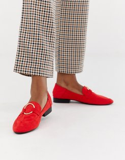 Flat Loafers-Red