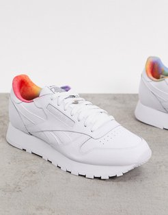 Pride classic leather trainers in white