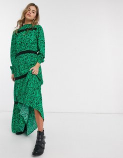 Resume Scarlett floral tiered maxi dress-Green