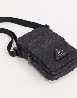 MCMLX mini cross body bag in black