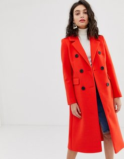 tailored coat in red