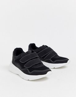 chunky sole sneakers-Black