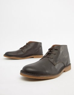 leather desert boot-Brown
