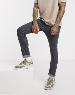 slim fit organic cotton jeans in gray