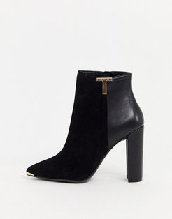 Inala leather heeled ankle boots-Black