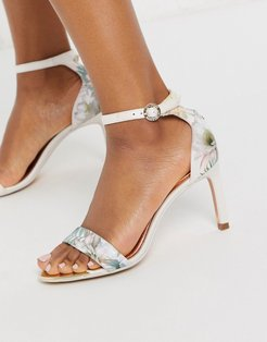 woodland barely there heeled sandals in pale pink