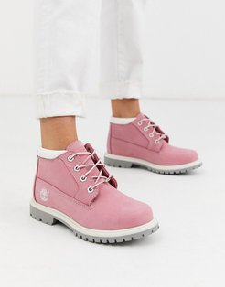 Nellie Chukka ankle boots in pink