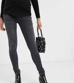 Jamie overbump skinny jeans in washed black
