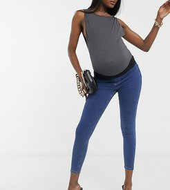 Joni underbump skinny jeans in mid wash-Blue